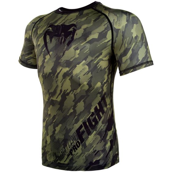 Venum Tecmo Rashguard - Short Sleeves - Khaki