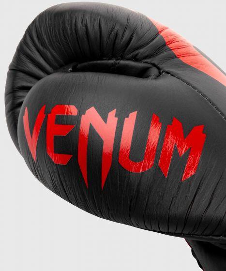 Gants de Boxe Pro Venum Giant 2.0 - Avec Lacets - Noir/Rouge