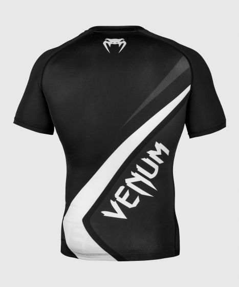 Venum Contender 4.0 Rashguard - Kurzarm - Schwarz/Grau-Weiß