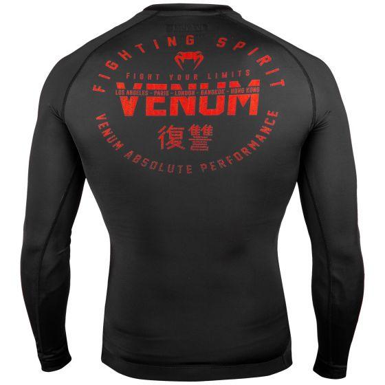 Rashguard Venum Signature - Manches longues - Noir/Rouge