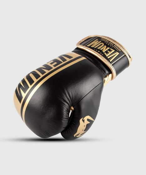 Venum Shield Pro Boxing Gloves Velcro - Black/Gold