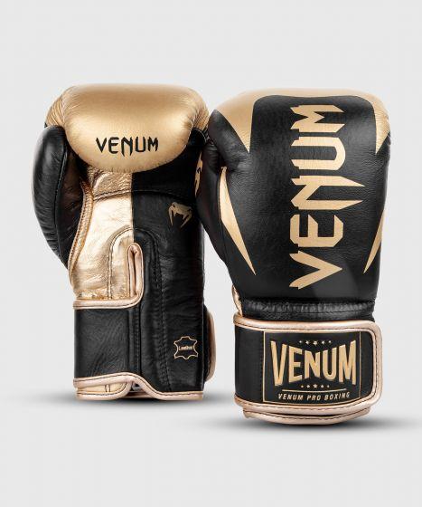 Venum Hammer professionelle Boxhandschuhe - Klettverschluss - Schwarz/Gold