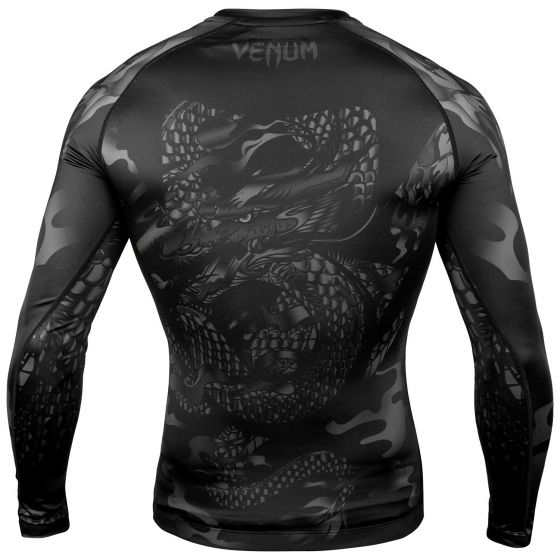 Rashguard Venum Dragon's Flight - Manga Larga - Negro/Negro