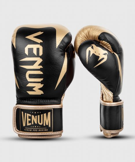 Venum Hammer Pro Boxing Gloves Velcro - Black/Gold