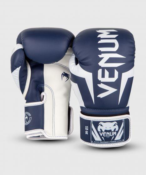 Gants de boxe Venum Elite - Blanc/Bleu Marine