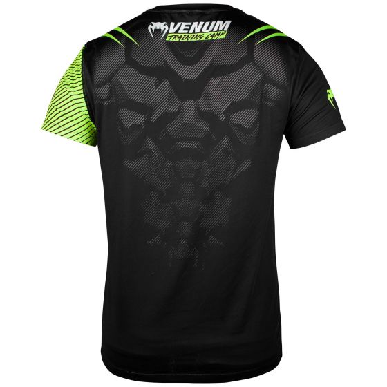 Camiseta Venum Training Camp 2.0 Dry Tech - Negro/Amarillo Fluo