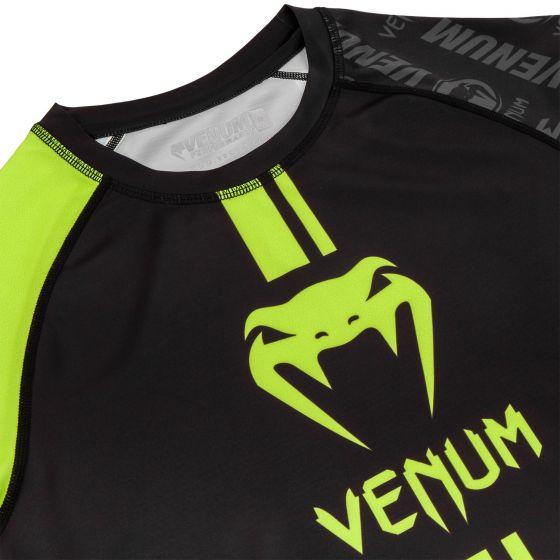 Rashguard Venum Logos - Manches longues - Noir/Jaune Fluo