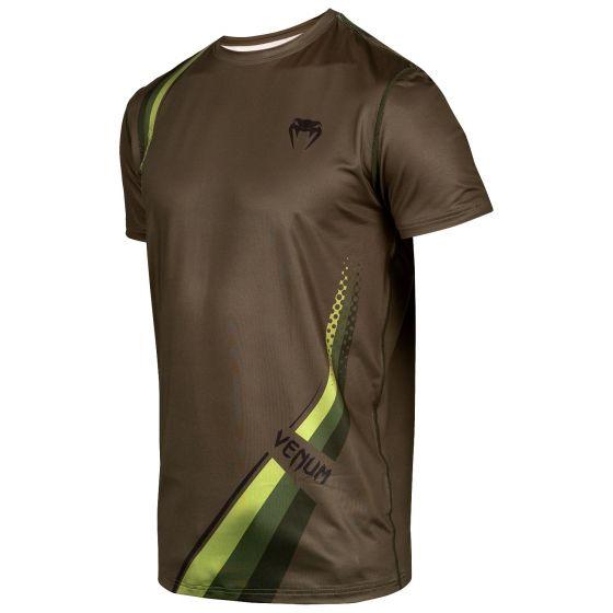 Camiseta Dry Tech Venum Cutback 2.0 - Kaki/Negro