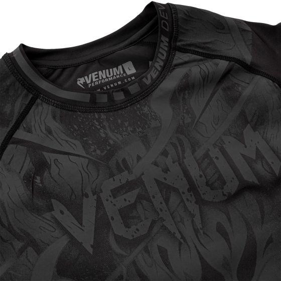 Rashguard Venum Devil - Mangas cortas - Negro/Negro