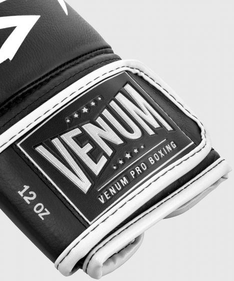 Venum Hammer Pro bokshandschoenen klittenband - Zwart/Wit