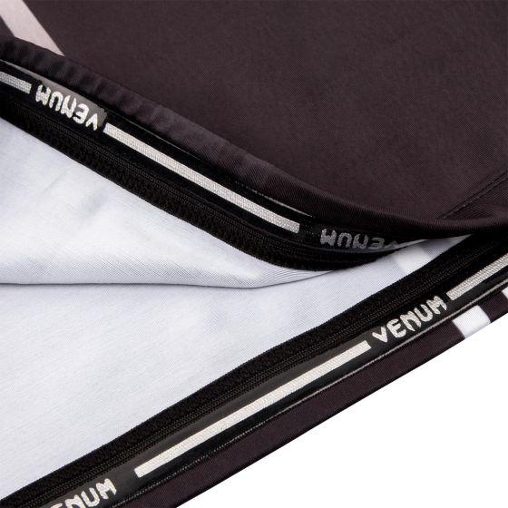 Rashguard Venum Logos - Mangas Cortas - Negro/Blanco