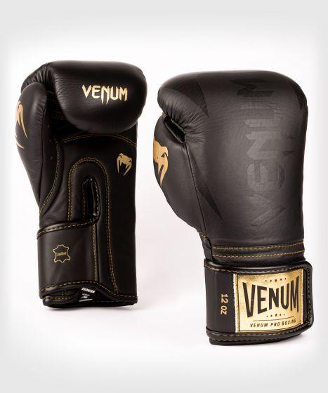 Guantoni da boxe professionali Venum Hammer – Velcro - Nero/Nero-Oro