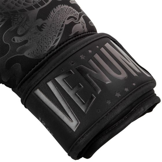 Venum Dragon's Flight Boxing Gloves - Black/Black