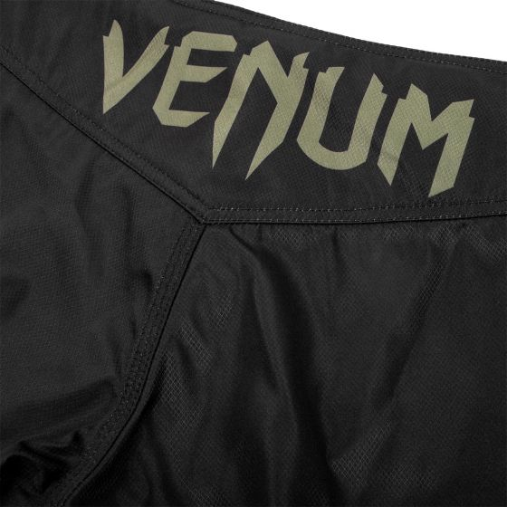 Fightshort Venum Signature - Noir/Kaki - Exclusivité