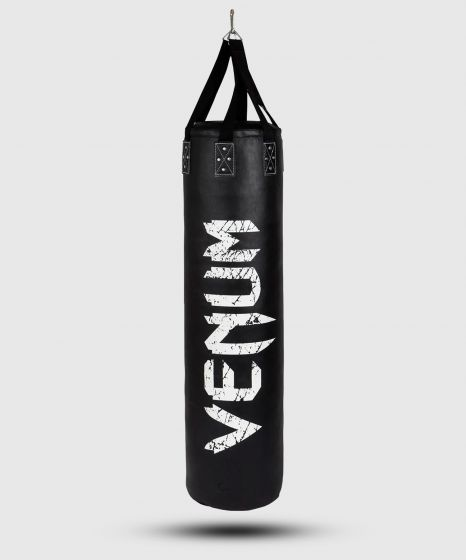 Venum Challenger Heavy bag + Ceiling Hook - Black/White - Filled - 130cm