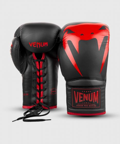 Venum Giant 2.0 Pro Boxing Gloves - With Laces - Black/Red