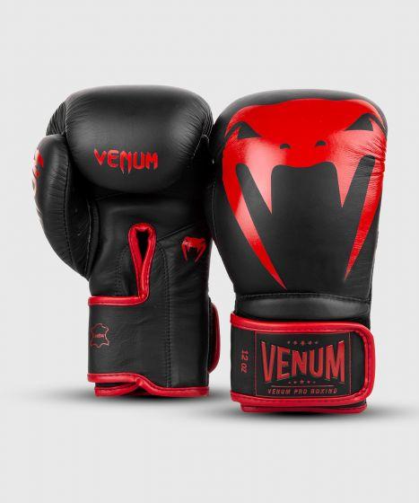 Venum Giant 2.0 professionelle Boxhandschuhe - Klettverschluss - Schwarz/Rot