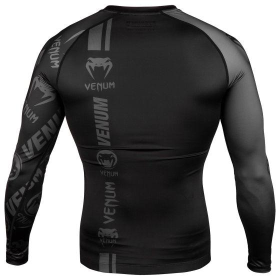 Venum Logos Rashguard - Lange mouwen - Zwart/Zwart