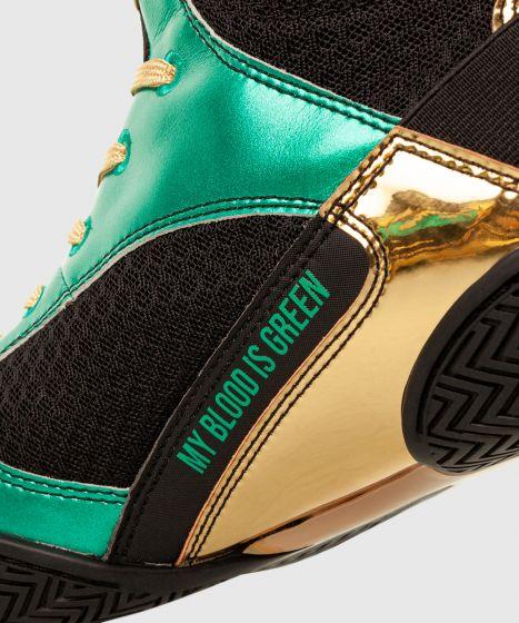 Elite Boxschuhe - Elite Boxschuhe - WBC limitierte Auflage - Metallicgrün/Gold