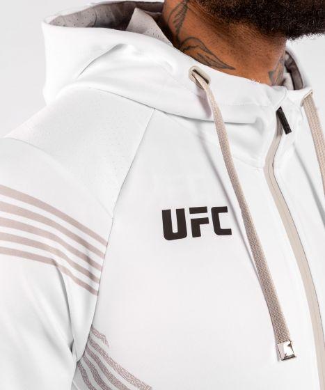Felpa Con Cappuccio Walkout Uomo Personalizzata UFC Venum Authentic Fight Night - Bianco