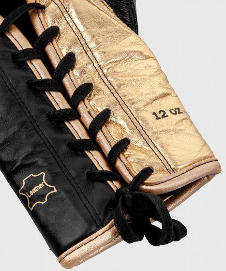 Guantes de Boxeo profesional Venum Shield – cordones - Negro/Oro