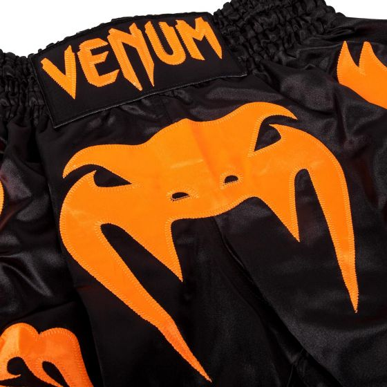 Venum Bangkok Inferno Muay Thai Shorts - Black/Neo Orange