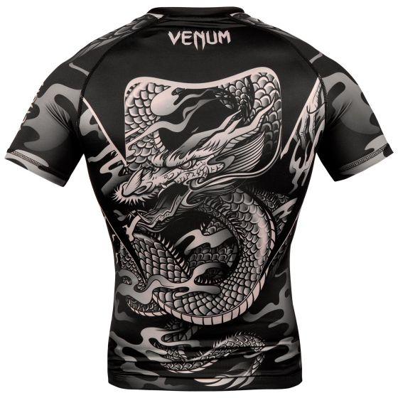 Rashguard Venum Dragon's Flight - Manches courtes - Noir/Sable