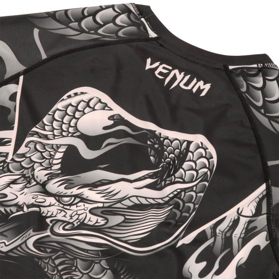 Venum Dragon's Rashguard - Kurzarm - Schwarz/Sand