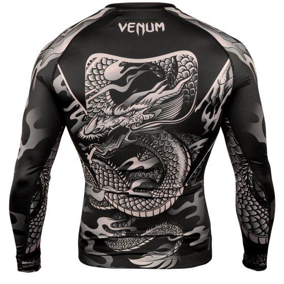 Venum Dragon's Flight Rashguard - Long Sleeves - Black/Sand