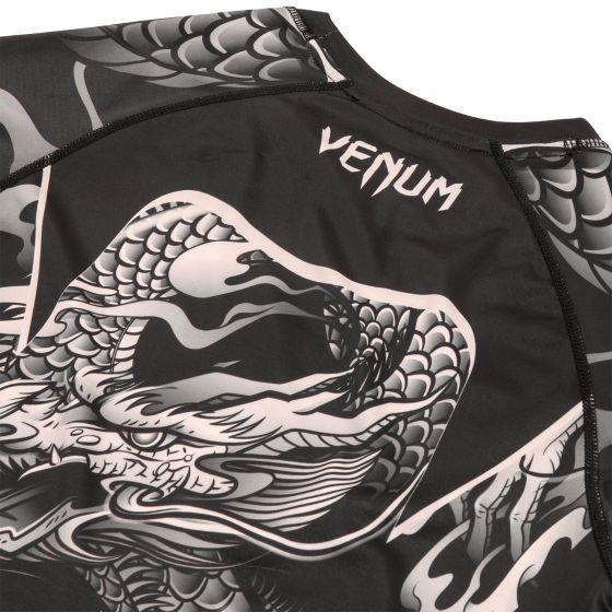 Venum Dragon's Rashguard - Langarm - Schwarz/Sand