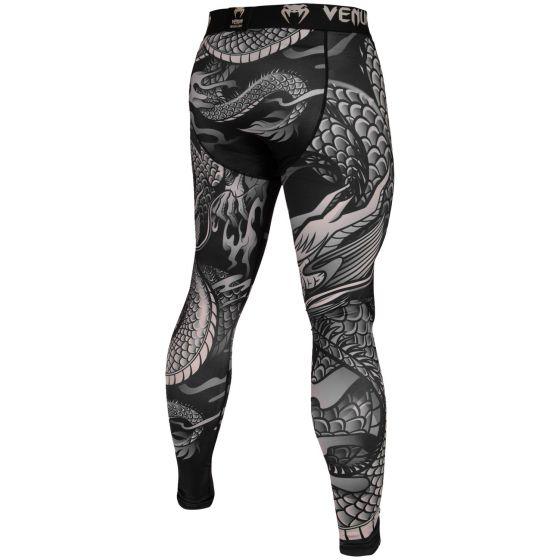 Pantaloni di compressione Venum Dragon's Flight - Nero/Sabbia