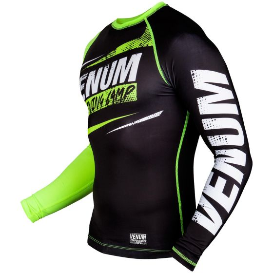 T-shirt de compression Venum Training Camp - Noir/Jaune Fluo