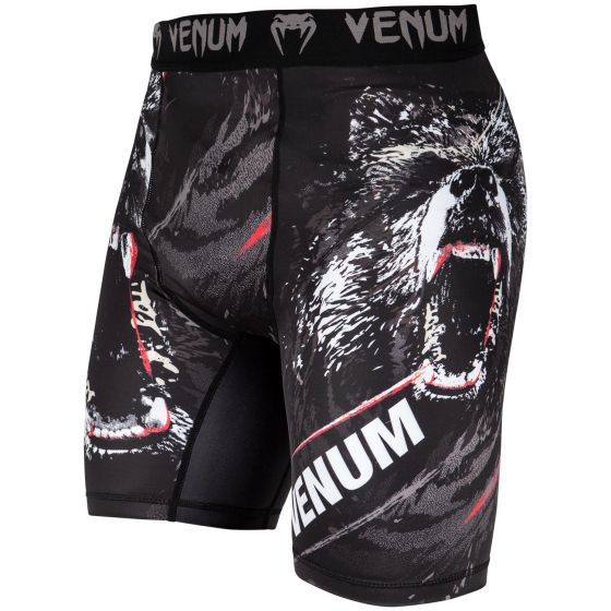 Venum Grizzli Kompression Shorts - Schwarz/Weiß