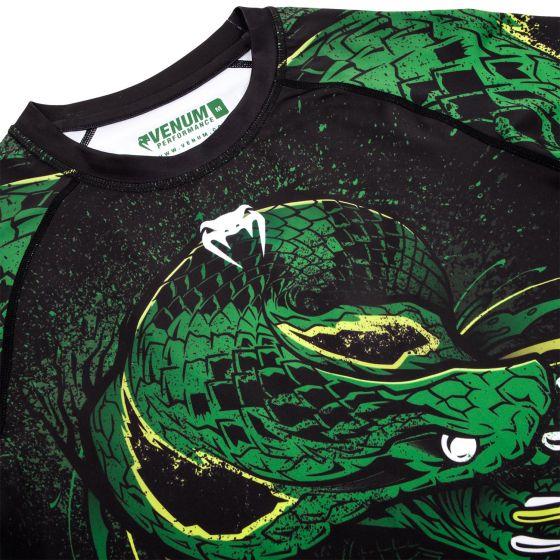 Rashguard Venum Green Viper - Manches courtes - Noir/Vert