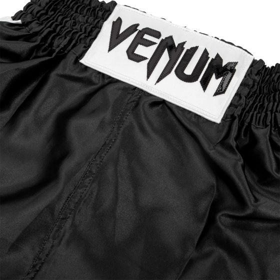 Pantaloncini da boxe Venum Elite bambino - Neri/Bianchi
