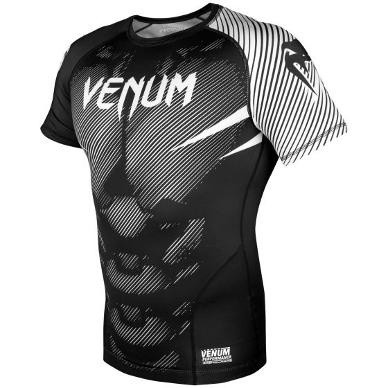 Venum NoGi 2.0 Rashguard - Kurzarm - Schwarz/Weiß