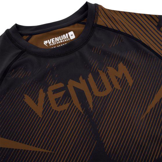 Venum NoGi 2.0 Rashguard - Short Sleeves - Black/Brown