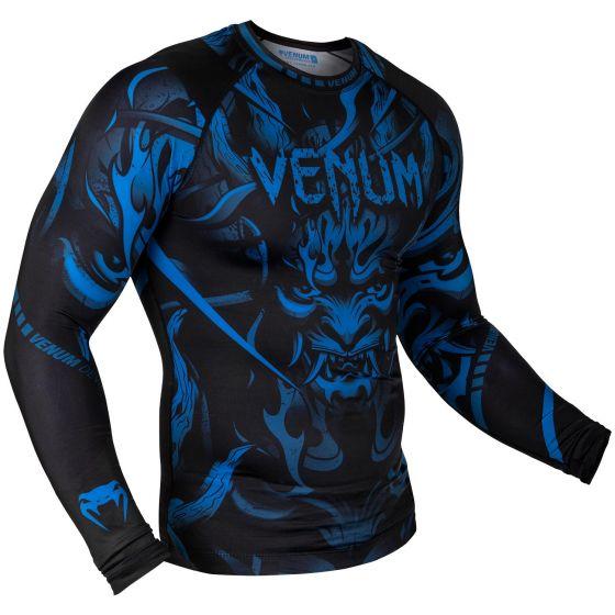 Venum Devil Rashguard - Lange Mouwen - Marineblauw/Zwart