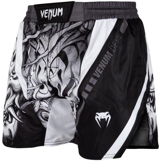 Venum Devil Fightshorts -Wit/Zwart