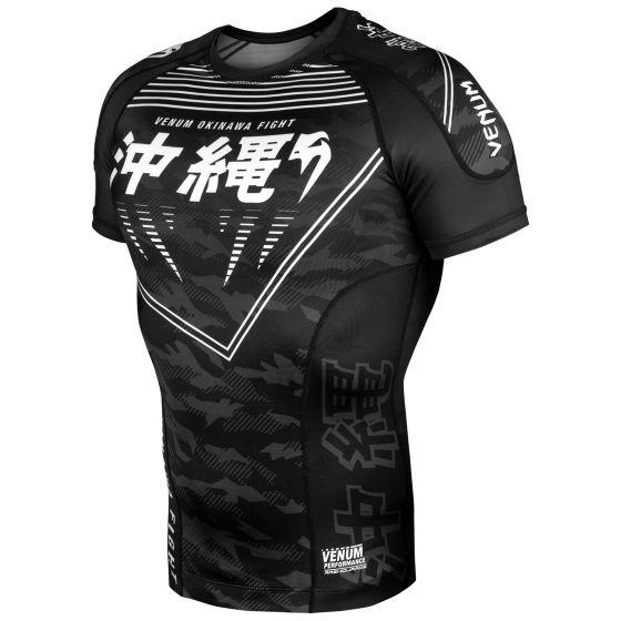 Rashguard Okinawa 2.0 Kurzarm - Schwarz/Weiß