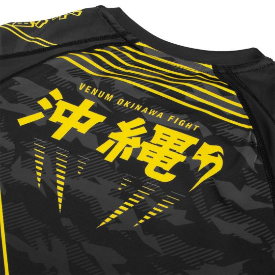 Venum Okinawa 2.0 Rashguard - Short Sleeves - Black/Yellow