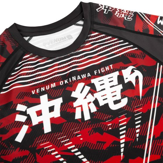 Rashguard Venum Okinawa 2.0 - Manches courtes - Noir/Blanc-Rouge