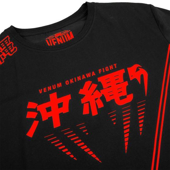 T-shirt Venum Okinawa 2.0 - Noir/Rouge - Exclusivité