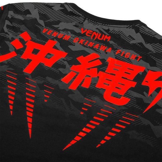 Camiseta Venum Okinawa 2.0 - Negro/Rojo