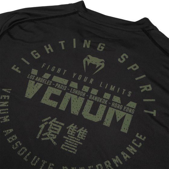 Venum Signature Dry Tech T-shirt - Black /Khaki - Exclusive