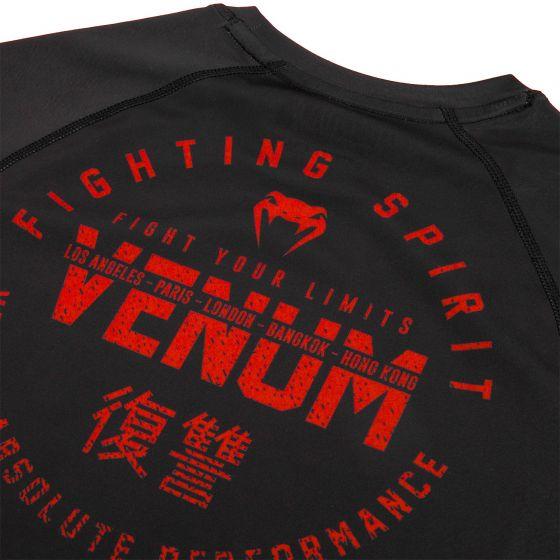 Rashguard Venum Signature - Manches courtes - Noir/Rouge