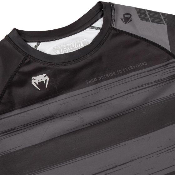 Venum AMRAP Kompressions-T-Shirt - Kurzärmelig - Schwarz/Grau