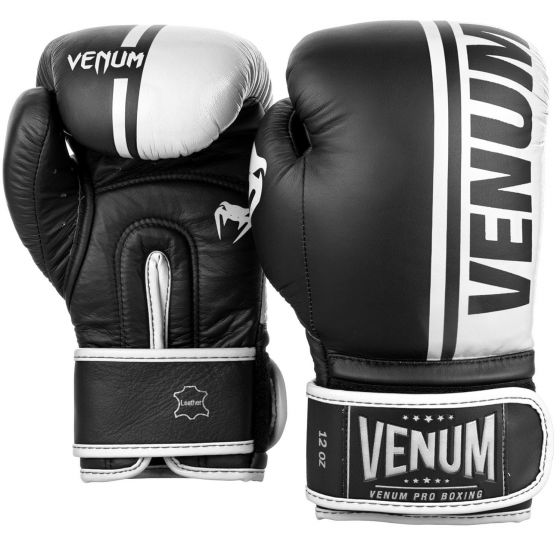 Venum Shield Pro Boxing Gloves - Velcro - Black/White