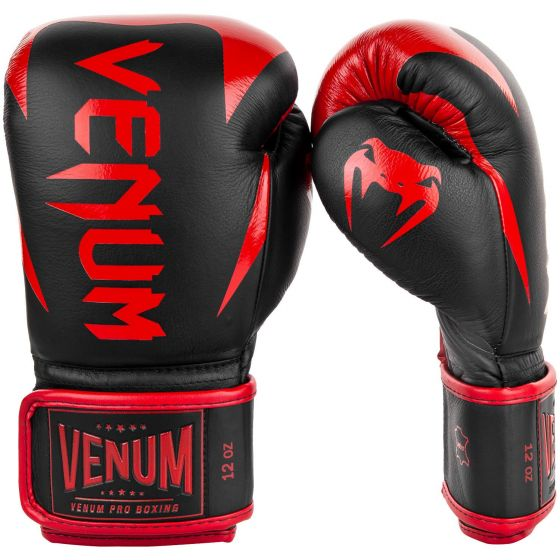 Venum Hammer Pro Boxing Gloves - Velcro - Black/Red