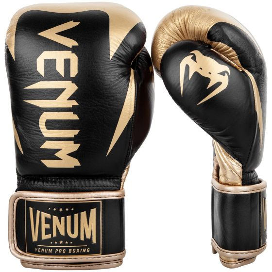 Venum Hammer Pro Boxing Gloves - Velcro - Black/Gold